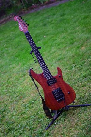 Washburn N4 Nuno Bettencourt padauk For Sale UK (7)